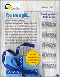 Winter 2015 Newsletter: You are a Gift